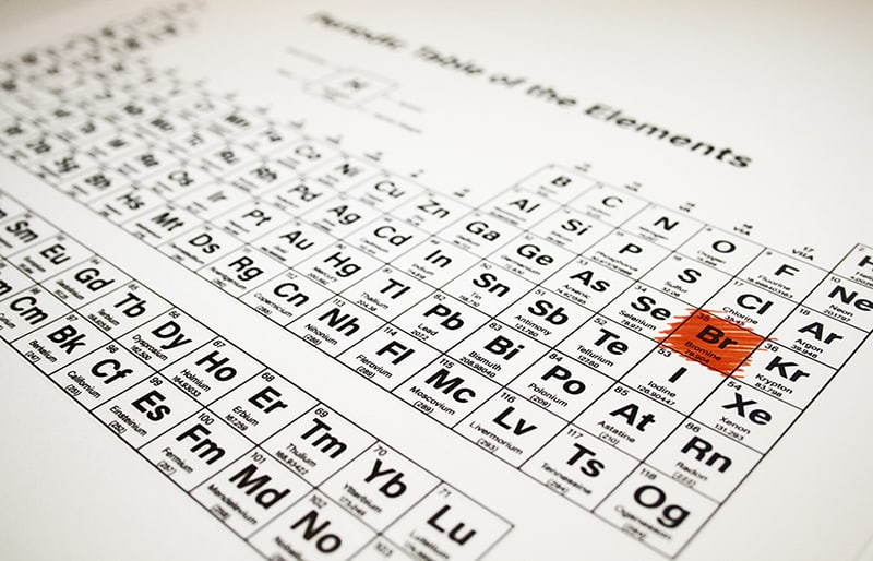 Periodic table of the elements - Bromine